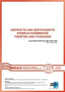 Geprüfte und zertifizierte Einbruchhemmende Fenster und Fassaden