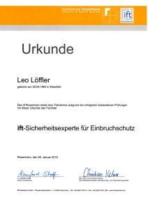 ift-Sicherheitsexperte für Einbruchschutz - Leo Löffler