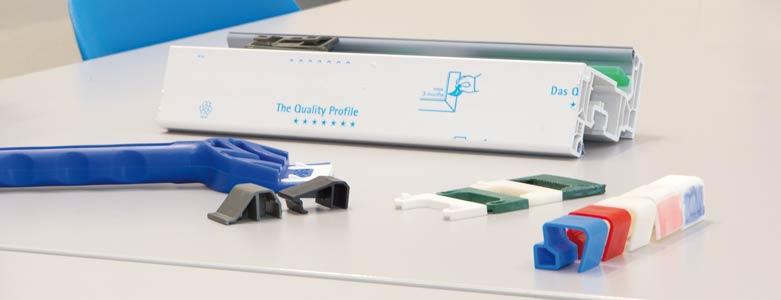 3D-Drucktechnik Klebekamm und Flügelfalzklötze