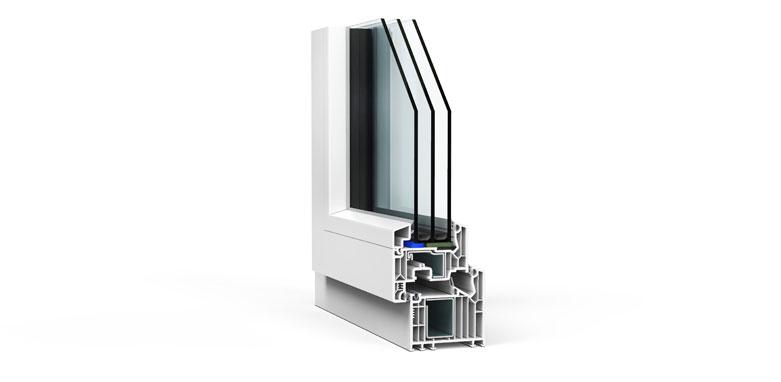 LÖWE Fenster Hybrid-SV Querschnitt