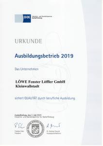 LÖWE Fenster Löffler GmbH - Ausbildungsbetrieb 2019