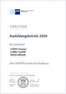 LÖWE Fenster Löffler GmbH - Ausbildungsbetrieb 2020