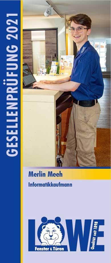 Merlin Meeh, Informatikkaufmann