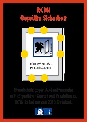 RC1N nach EN 1627 - PB 13-000248-PR01 LÖWE Fenster, geprüfte Sicherheit
