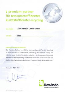Rewindo Premium-Partner Urkunde