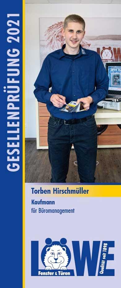 Torben Hirschmüller, Kaufmann für Büromanagement