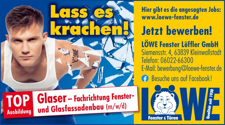 Ausbildungsplatz Glaser – Fachrichtung Fenster- und Glasfassadenbau (m/w/d)